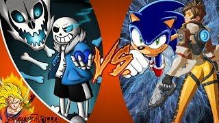 SANS vs SONIC & TRACER! Cartoon Fight Club BONUS Episode & Ep 137! REACTION!!!