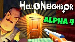 SECRET DOOR BEHIND VAULT, NUMBERS ON PLATFORM! | Hello Neighbor Alpha 4