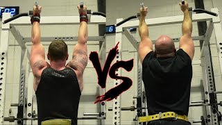 ME vs WORLD Champion Powerlifters: 45lb Max Rep Pull Up Challenge