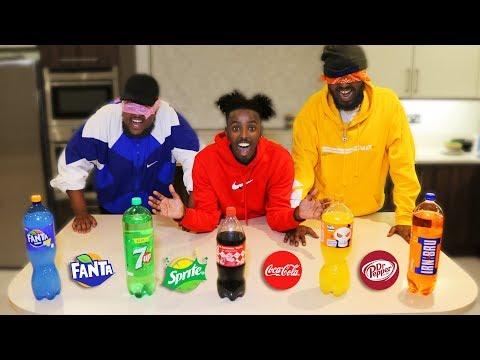 GUESS THAT SODA CHALLENGE Blindfold Taste Test