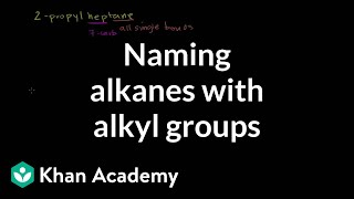 Naming alkanes with alkyl groups | Organic chemistry | Khan Academy