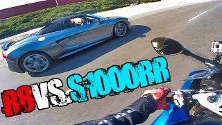 AUDI R8 V10 vs BMW S1000RR