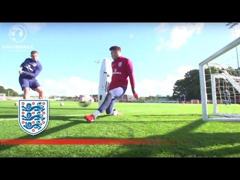 Quick feet and goalkeeper reactions - England U21   Inside Training