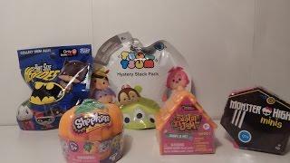 Blind Box Fundays #8: Pint Size Heroes, Halloween Shopkins, Animal Jams, MH Minis, & Tsum tsums