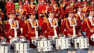 Animadoras norte-coreanas se apresentam em Gangneung
