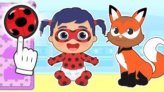 BABY PETS 🦊 Kira Dresses up as Ladybug