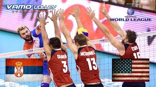 ALL BREAKS REMOVED - USA v Serbia - 2017 FIVB World League Volleyball Pool Play