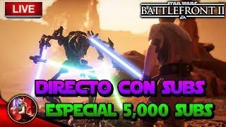 ESPECIAL 5000 SUBS JUGANDO CON SUBS - Star Wars Battlefront 2 - ByOscar94