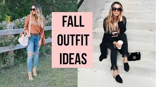 HOW TO STYLE JEANS FOR FALL! EASY ON TREND OUTFITS! ALEXANDREA GARZA
