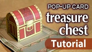 [Tutorial] pop-up card  -treasure chest-