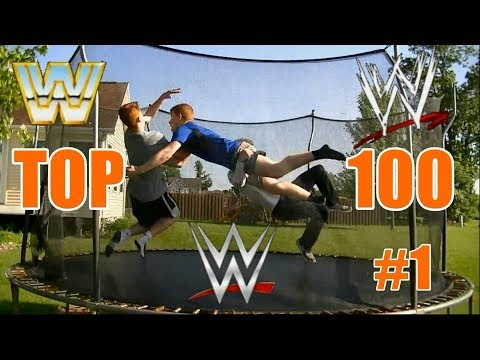 Top 100 WWE Finishers of ALL TIME on Trampoline Part 1 100 51