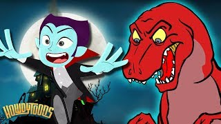 Dressing Up for Halloween | Dinosaur Songs & More Scary Fun for Kids | Dinostory by Howdytoons