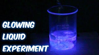 Glow Liquid Science Experiment