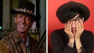 "Australians Watch ""Crocodile Dundee"" For The First Time"