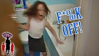 7yr Old Locks Herself In Bathroom To Escape Bedtime | Supernanny
