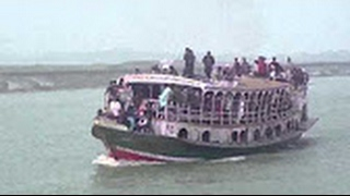 Boat accident in river