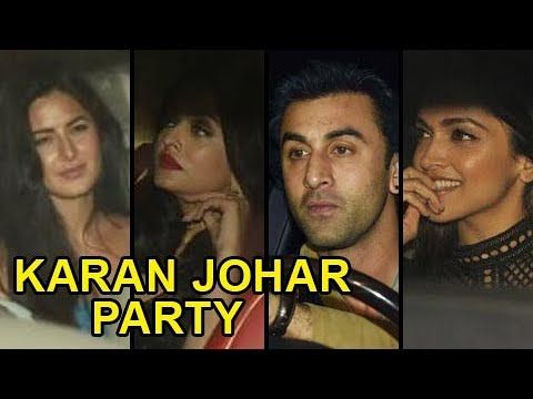 Katrina Kaif, Deepika Padukone, Ranbir Kapoor And Stars At Karan Johar Birthday Bash 2017