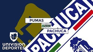 Pumas 0-0 Pachuca - RESUMEN - Apertura 2018 Liga MX