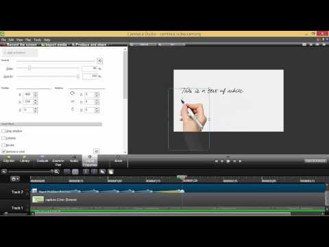 Basic Whiteboard Animation in Camtasia Studio 2