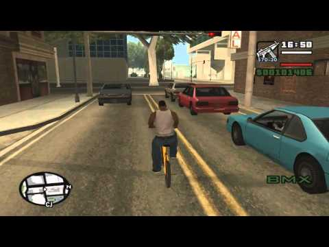 GTA San Andreas get muscle fatness stamina weapons and cycling skill