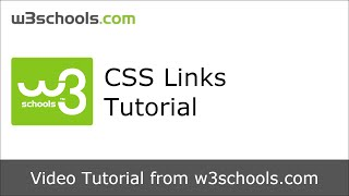 W3Schools CSS Links Tutorial