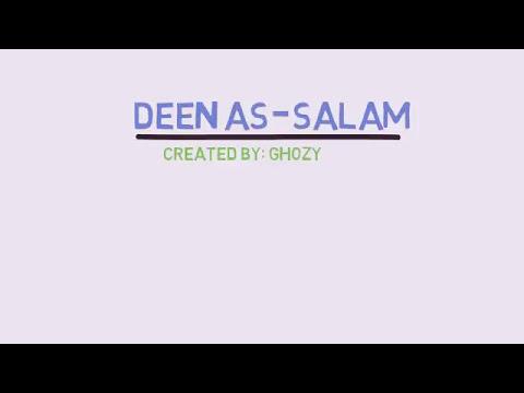 Download Deen as salaam(diin as salm), bank boubyan, lirik dan arti, video animasi. free