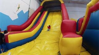 Huge Indoor playground GIANT INFLATABLE SLIDES balloons Bounce House for kids play