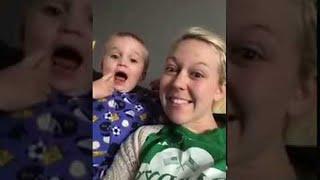 Baby Socks Mom During Selfie Video || ViralHog