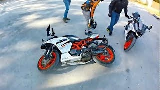 MOST SHOCKING KTM CRASHES ON THE ROAD & ULTIMATE KTM DUKE, RC, RMC -  CRASH COMPILATION!