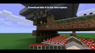 3x10 bridge water/lava with pistons & download - Minecraft