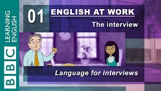 How to prepare for an interview - 01 - English at Work has the answers