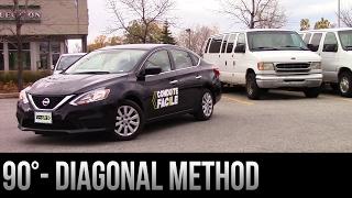 90° Parking Backing Up - The Diagonal Method