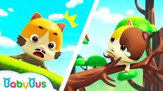 Baby Kitten's Trapped in Big Tree | Play Safe Song | Fire Truck | Nursery Rhymes| Kids Song |BabyBus