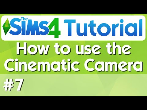 The Sims 4 Tutorial - #7 - How to Use The Cinematic Camera