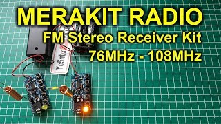 Merakit Radio FM Receiver - Chip Hex3653