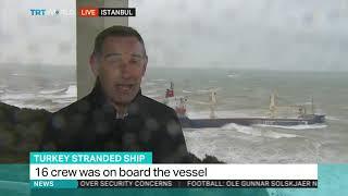 Cargo ship runs aground in Black Sea