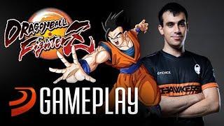 Gameplay de Dragon Ball FighterZ con VEGAPATCH, campeón de Street Fighter V