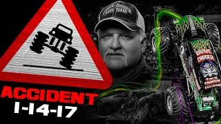 Grave Digger FLIP ACCIDENT - Tampa, FL - January 14, 2017