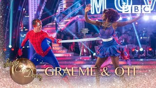Graeme Swann & Oti Mabuse Charleston to 'Spiderman' - BBC Strictly 2018