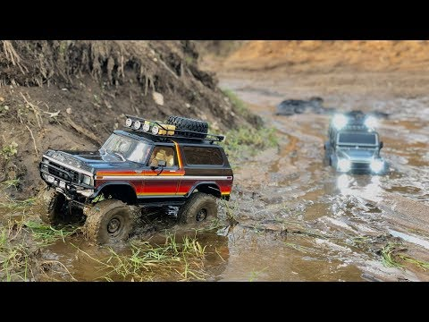 Xxx Mp4 Traxxas TRX4 Ford Bronco And Defender Long Muddy Trail 3gp Sex