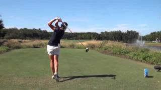 STACY LEWIS   SYNCED DRIVER GOLF SWING DTL & FACE ON   REG & SLOW MOTION 1080p HD