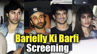 Bareilly Ki Barfi Movie Screening   Ranbir Kapoor, Varun Dhawan, Kriti Sanon, Sushant Singh Rajput