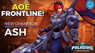 NEW AOE FRONTLINE CHAMPION ASH ARRIVES! 100-0 COMBOS AND INVINCIBILITY!? PALADINS PATCH OB 51