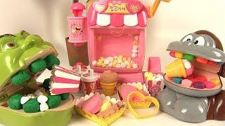 Shrek et le Singe mangent du Popcorn en Pâte à Modeler type Moon Dough