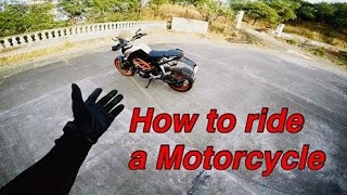 How to ride a motorcycle | Beginners Guide