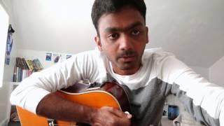Iru vizhi unadhu from Minnale - Guitar Cover