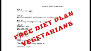 FREE MUSCLE BUILDING DIET PLAN FOR VEGETARIANS (PART 02)