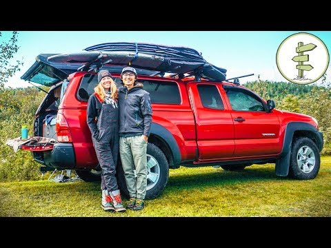 Extreme Minimalists Living Full Time in a Pickup Truck Camper
