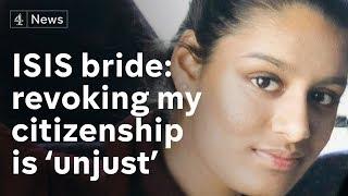 Shamima Begum 'a bit shocked' at having citizenship revoked