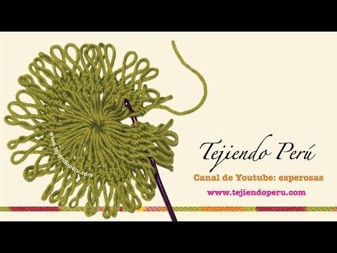 Horquilla hairpin lace técnica básica para tejer motivos circulares